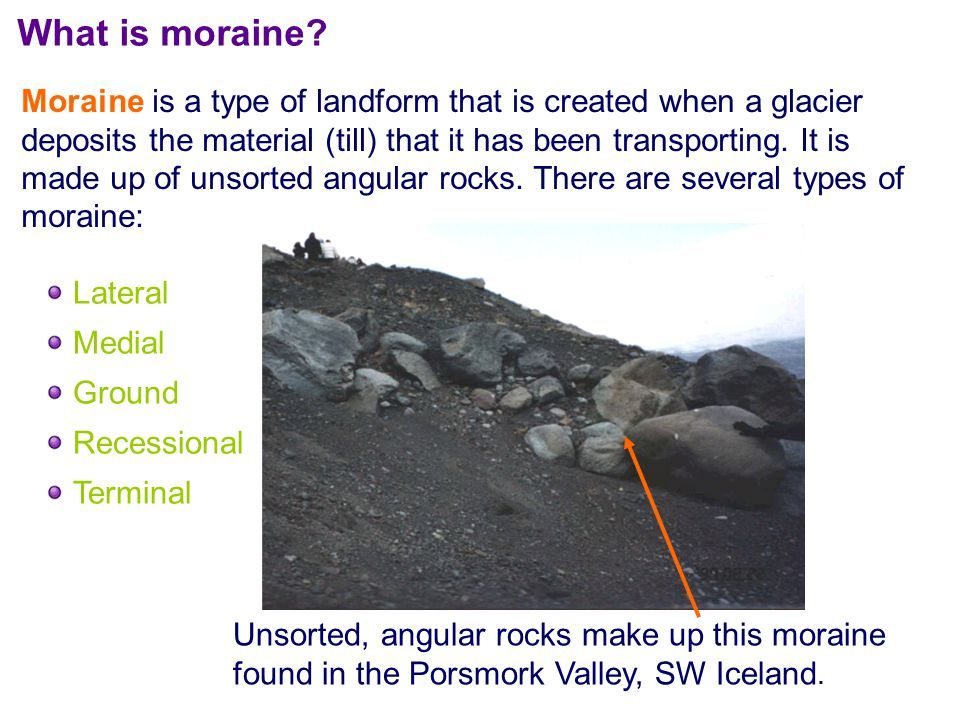 What is moraine.