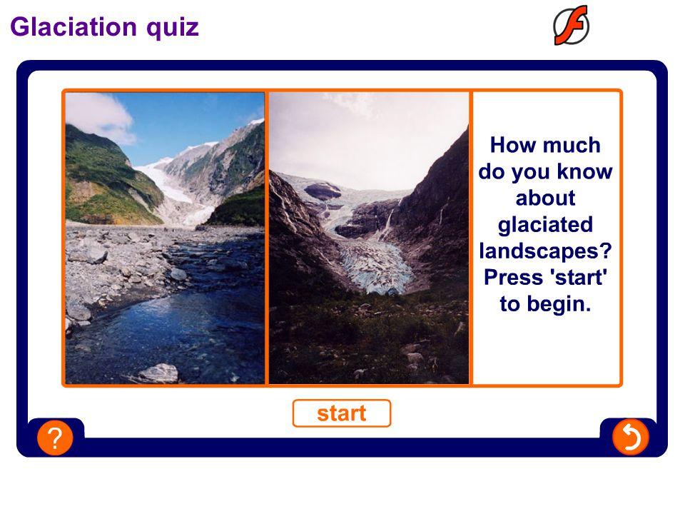 Glaciation quiz
