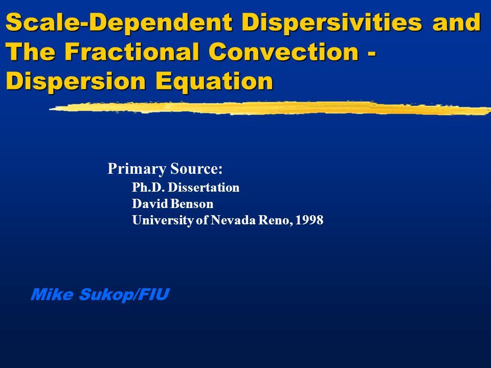 12 Solute Dispersion Mechanical Dispersion, Diffusion, Advection Average Pore Water Velocity Average Pore Water Velocity Time = 0 x = x 0 Time = 0 x = x 0 Time > 0 x > x 0 Time > 0 x > x 0 Modified from Serrano, 1997