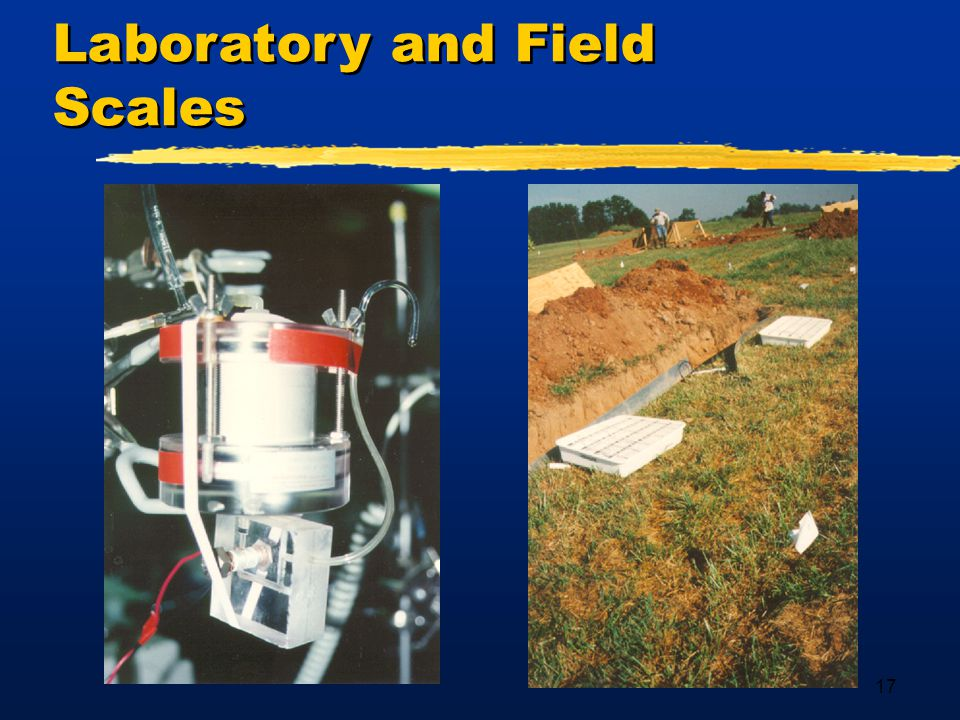 17 Laboratory and Field Scales
