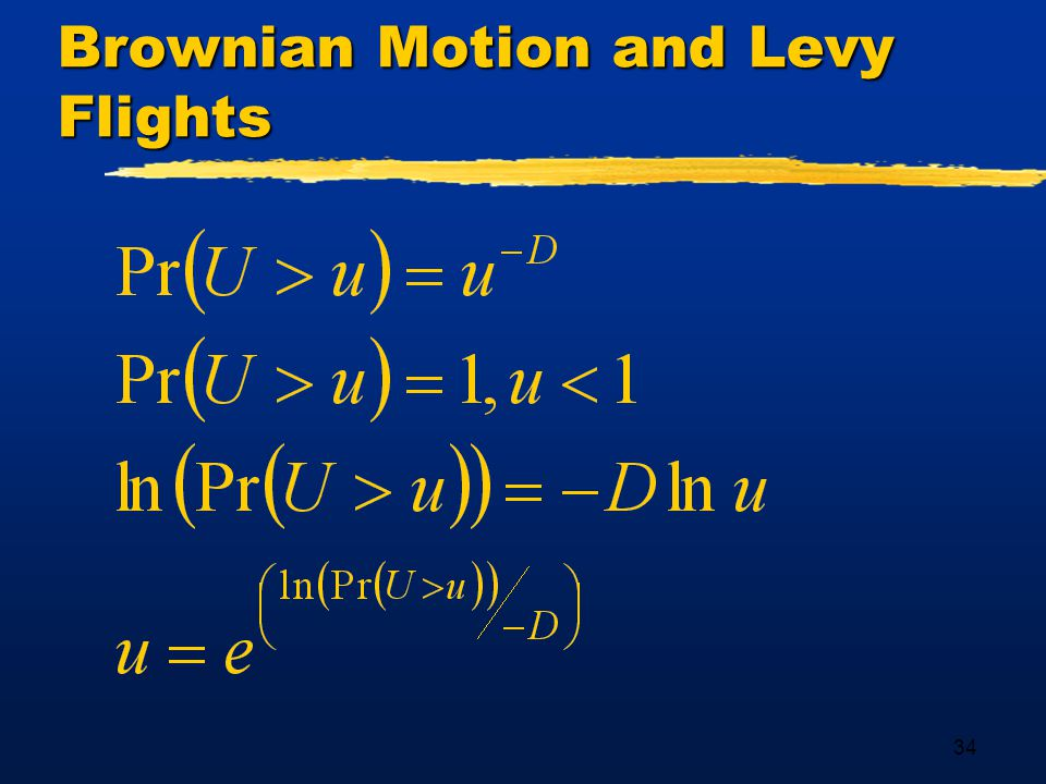 34 Brownian Motion and Levy Flights