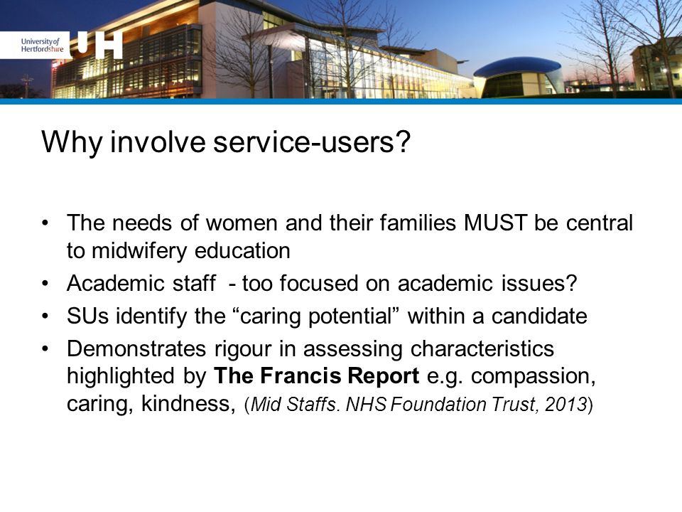 Why involve service-users.