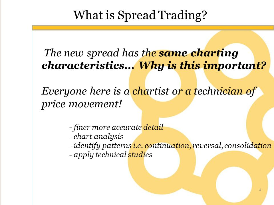 What is Spread Trading. The new spread has the same charting characteristics...