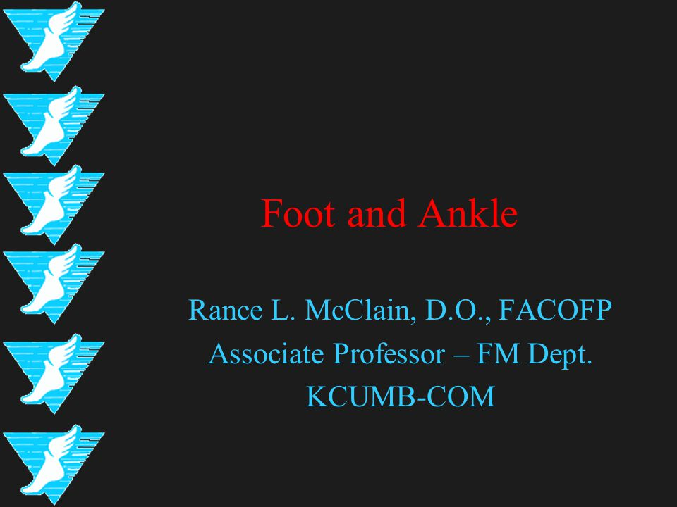 Inspection - Ankle Soft Tissue & Edema –Medially located deltoid ligament –Laterally located anterior & posterior talofibular ligaments, as well as the calcaneofibular ligament Anterior talofibular ligament is highly susceptible to injury Lateral ankle edema inferior and anterior to the lateral malleolus