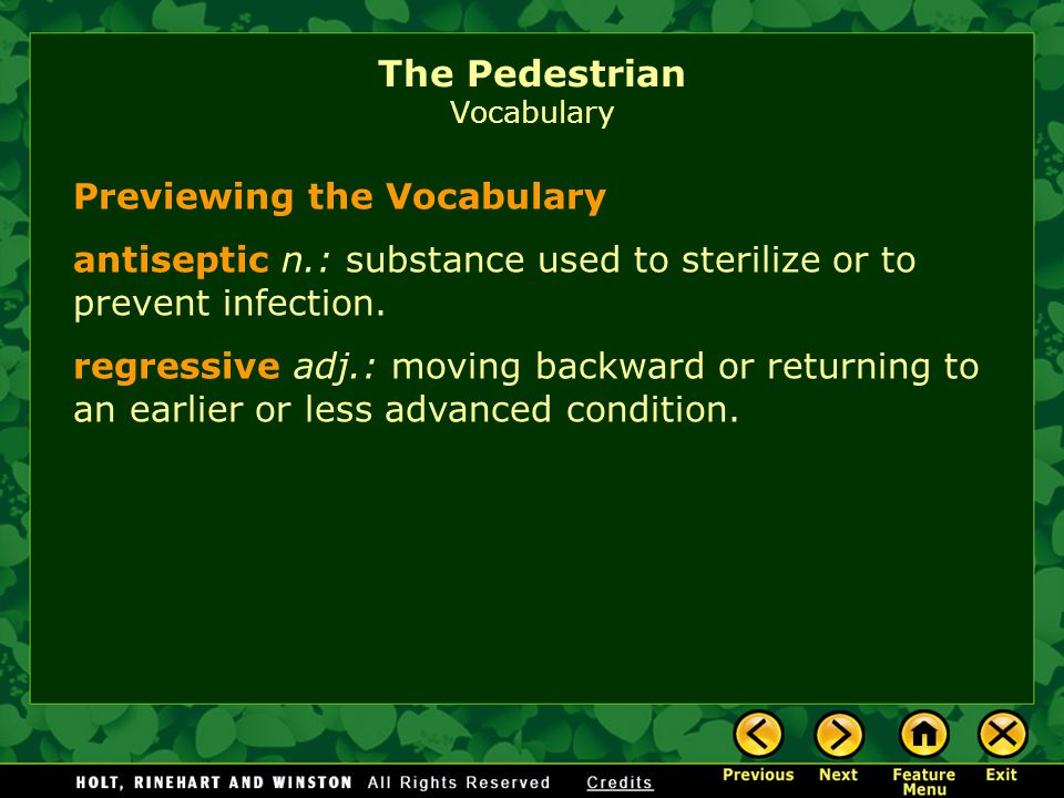 Previewing the Vocabulary manifest v.: appear; become evident.