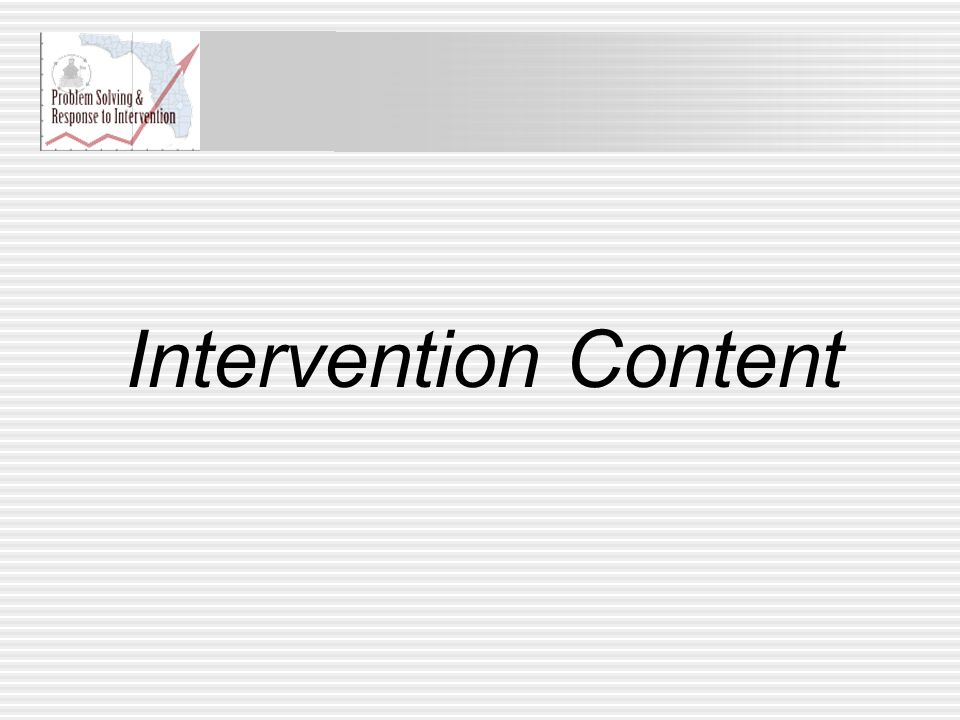 Intervention Content