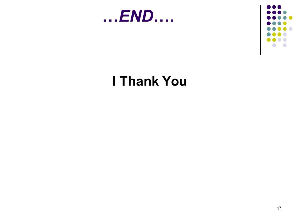…END…. I Thank You 47