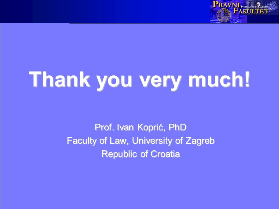 Thank you very much. Prof.