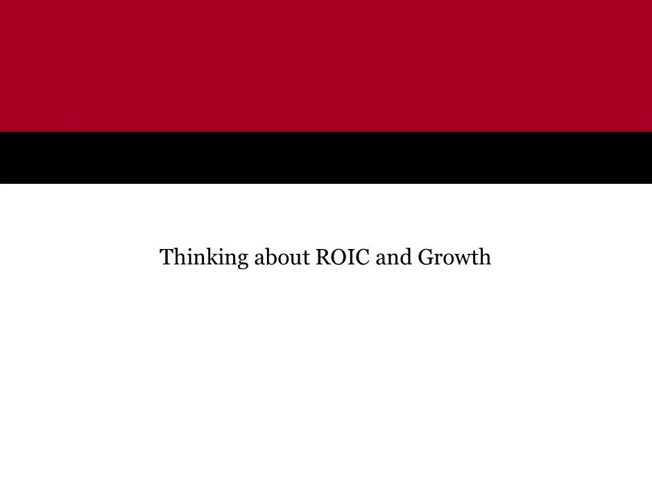Thinking about ROIC and Growth