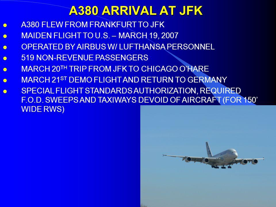 A380 ARRIVAL AT JFK l A380 FLEW FROM FRANKFURT TO JFK l MAIDEN FLIGHT TO U.S.