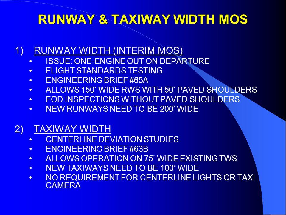 JFK RUNWAY AND TAXIWAY SEPARATIONS