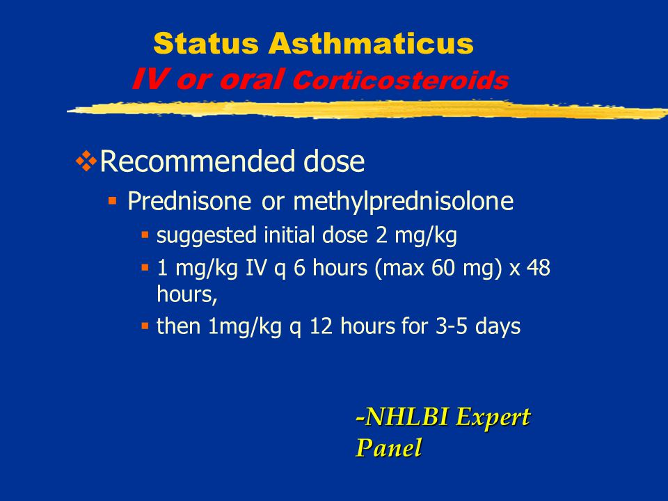 Status Asthmaticus Inhaled Corticosteroids  SI asthma has several characteristic features  severe asthma with persistent respiratory symptoms  frequent nighttime symptoms  chronic airflow obstruction (FEV 1 <70% of predicted)  tend to have required systemic GC therapy at a younger age  require higher daily maintenance doses of oral GCs  are often African American.