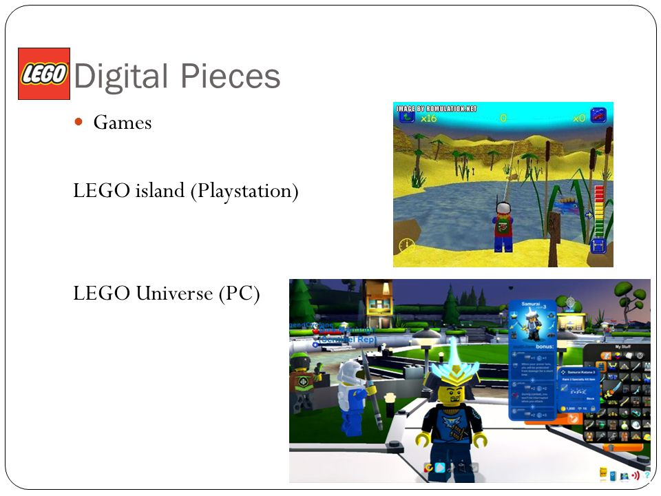 Digital Pieces Games LEGO island (Playstation) LEGO Universe (PC)