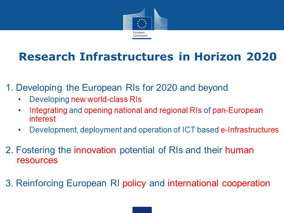 Research Infrastructures in Horizon 2020 1.