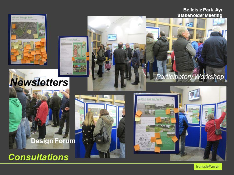 Belleisle Park, Ayr Stakeholder Meeting IronsideFarrar Newsletters Consultations Design Forum Participatory Workshop
