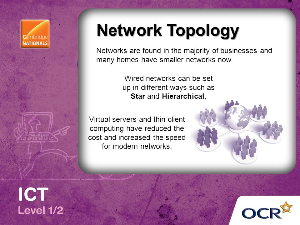 Network Topology Networks are found in the majority of businesses and many homes have smaller networks now. Wired networks can be set up in different