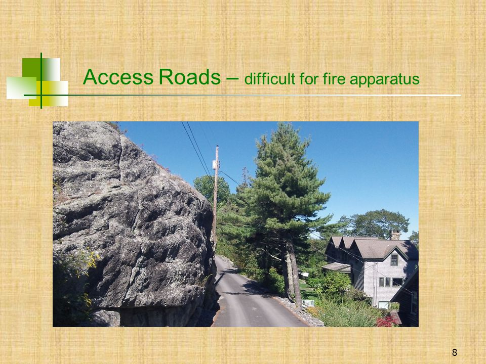 9 Access Roads / overhanging branches /signage