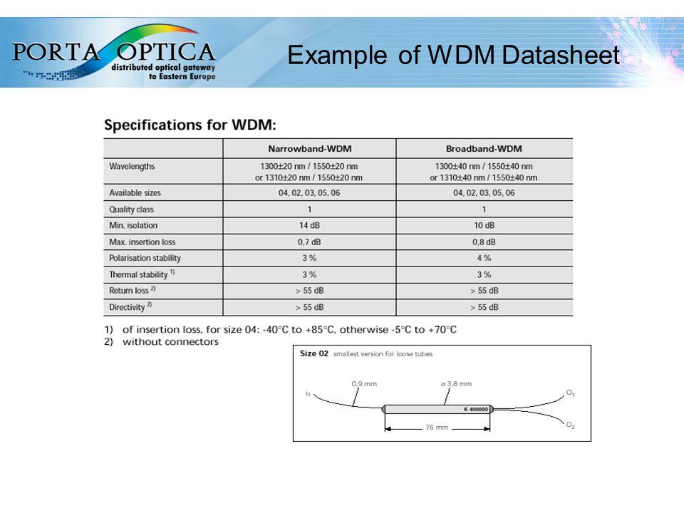 61 Example of WDM Datasheet
