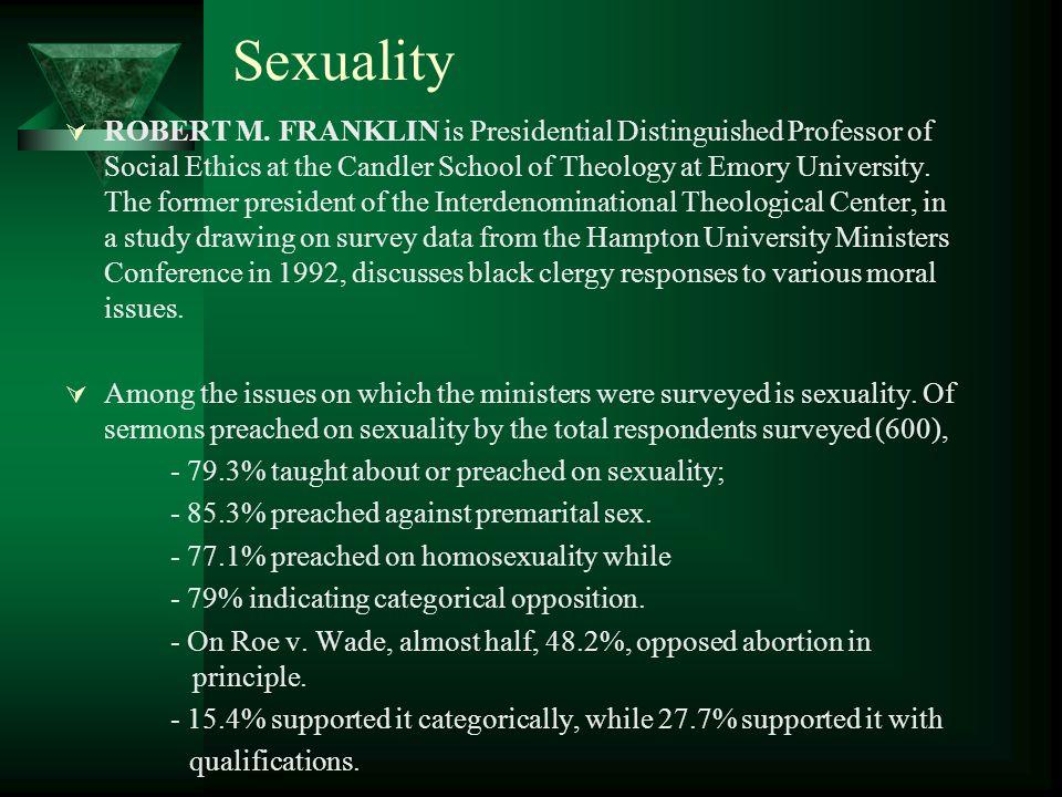 Sexuality  ROBERT M.
