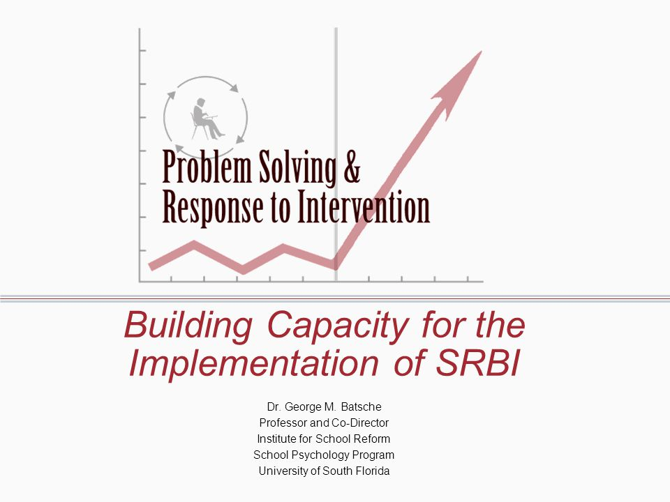 Building Capacity for the Implementation of SRBI Dr.
