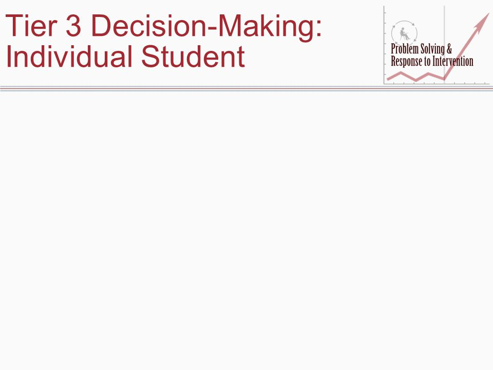 Tier 3 Decision-Making: Individual Student