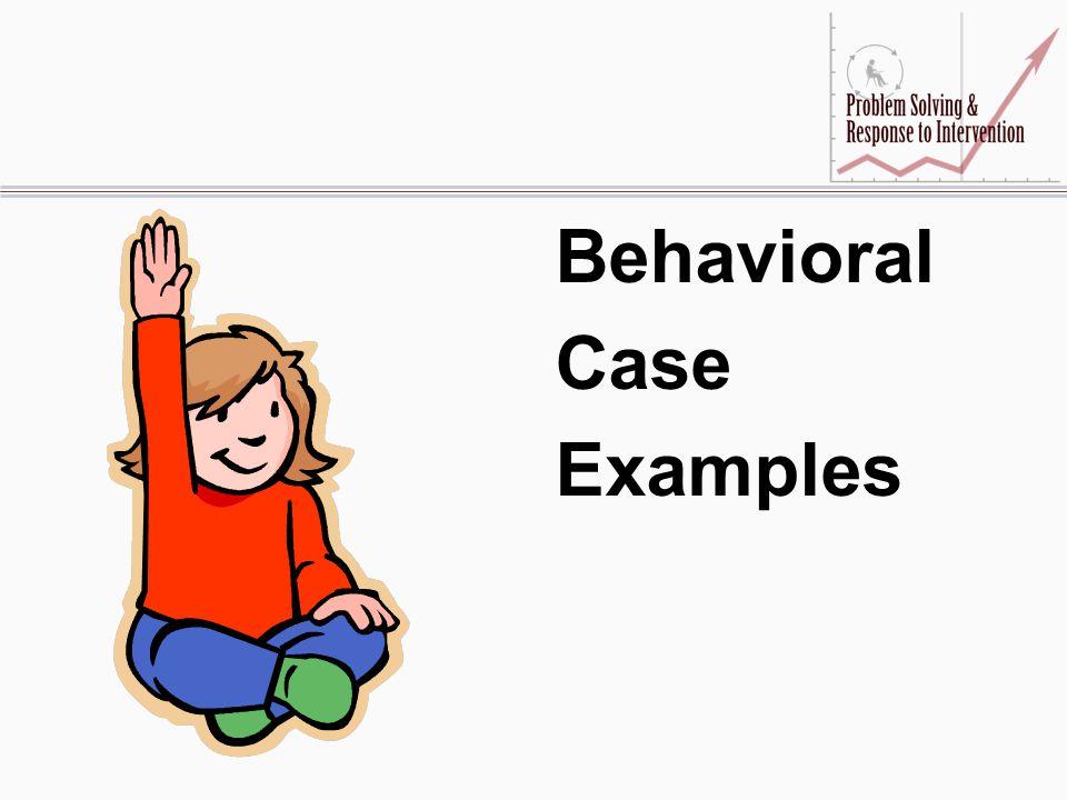 Behavioral Case Examples