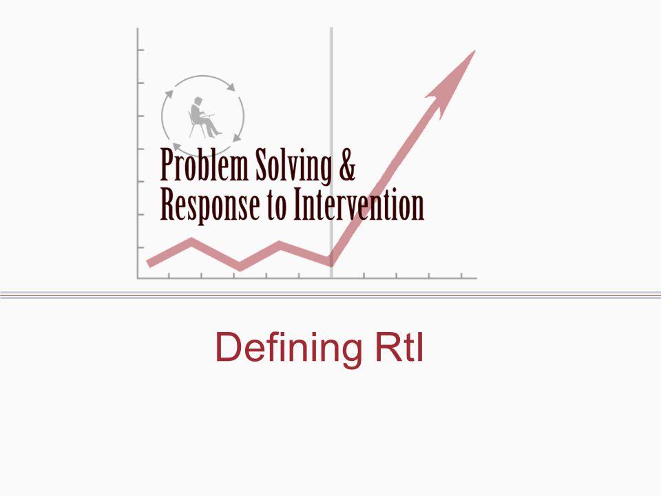 Defining RtI