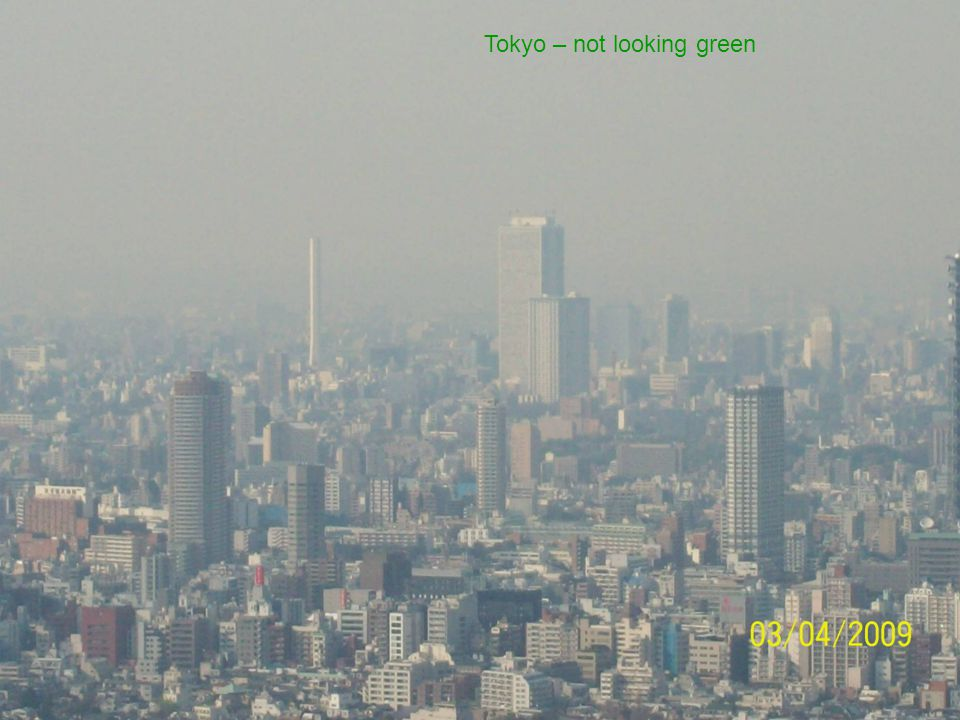 Tokyo – not looking green