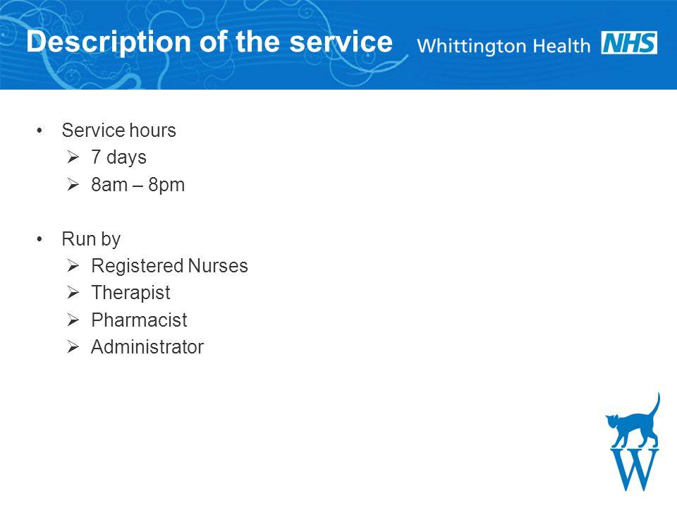 16 Whittington Health Magdala Avenue London N19 5NF Tel:020 72883070 Fax:020 7288 5550 Website:www.whittington.nhs.uk