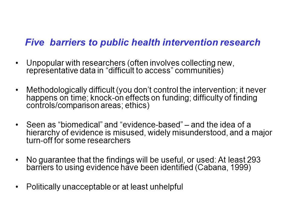Implications for systematic reviews of complex interventions