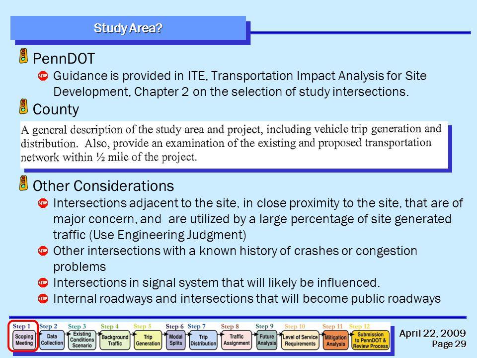 April 22, 2009 Page 29 Study Area.