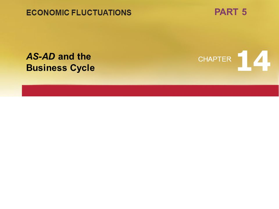 PART 5 ECONOMIC FLUCTUATIONS AS-AD and the Business Cycle CHAPTER 14