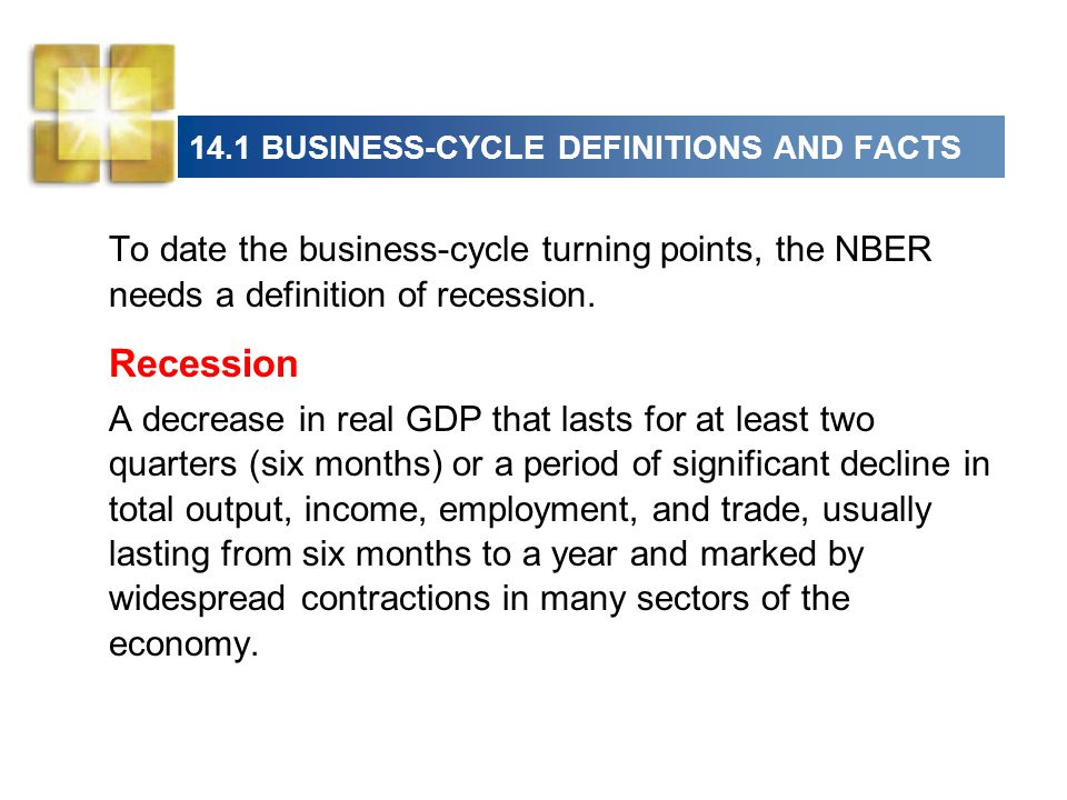 14.1 BUSINESS-CYCLE DEFINITIONS AND FACTS  U.S.