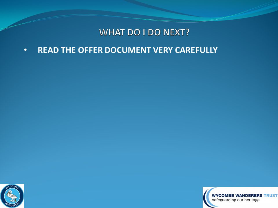 READ THE OFFER DOCUMENT VERY CAREFULLY