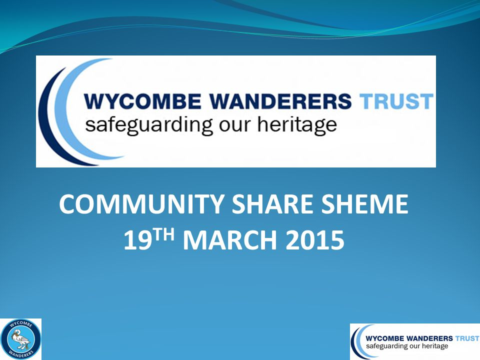 COMMUNITY SHARE SHEME 19 TH MARCH 2015