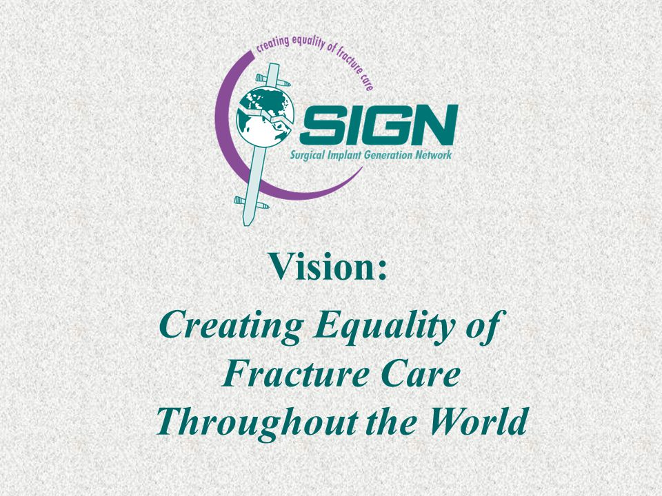 Vision: Creating Equality of Fracture Care Throughout the World