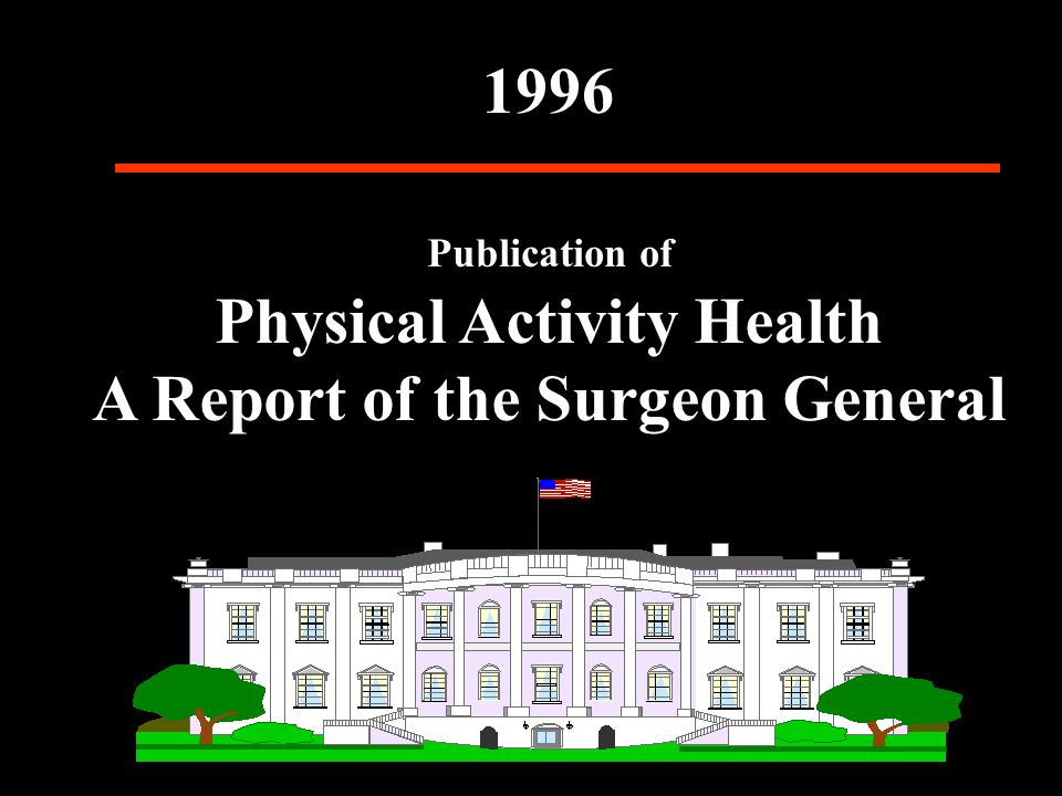 Publication of Physical Activity Health A Report of the Surgeon General