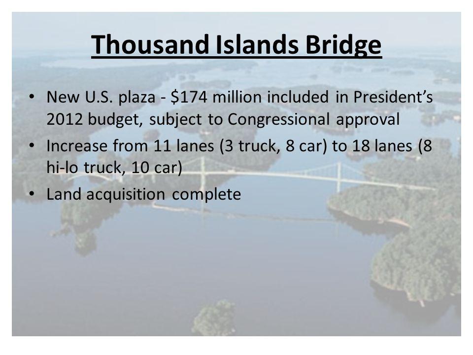 Thousand Islands Bridge New U.S.