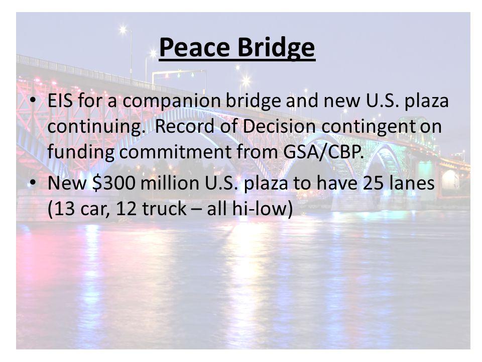 Peace Bridge EIS for a companion bridge and new U.S.