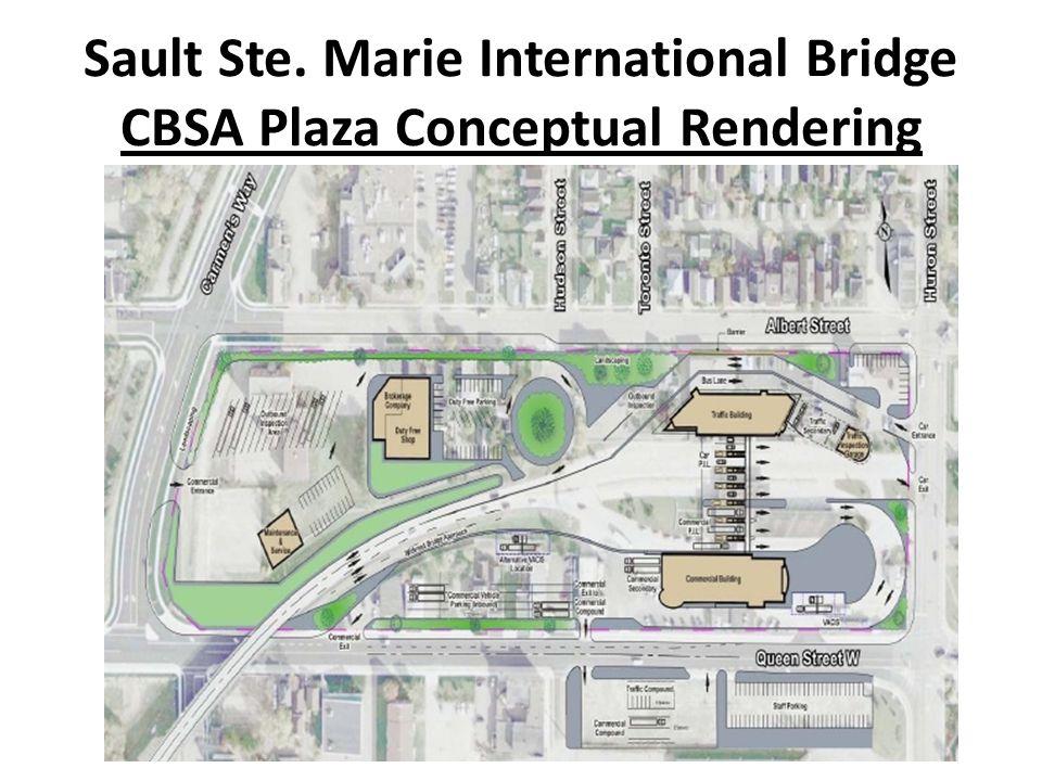 Sault Ste. Marie International Bridge CBSA Plaza Conceptual Rendering