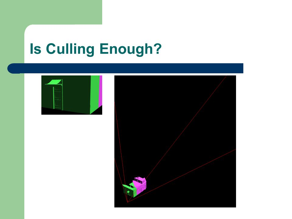 Is Culling Enough?