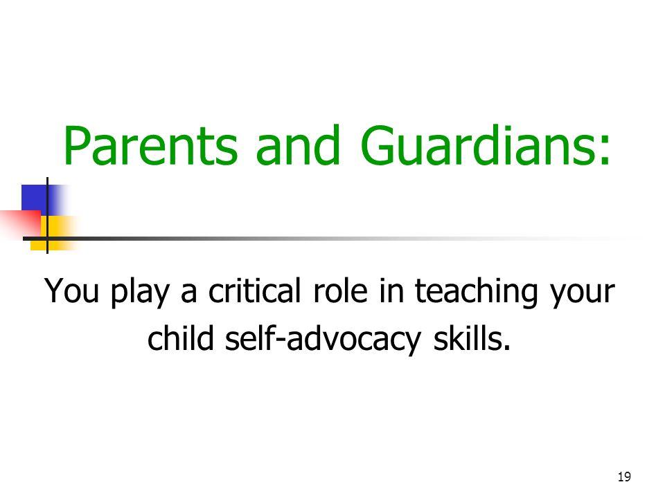 20 Parents and Guardians Winnelle Carpenter, M.A.