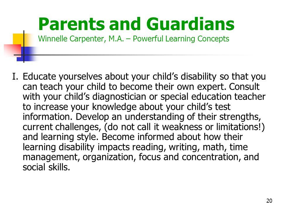 21 II.Your child may need academic accommodations.