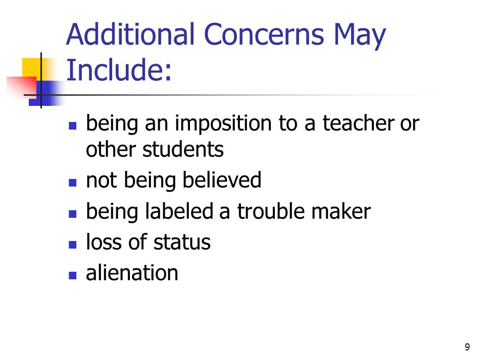 10 Common teacher responses to requests for an accommodation by students If you'd just try harder. Everybody has problems learning. It wouldn't be fair to other students.