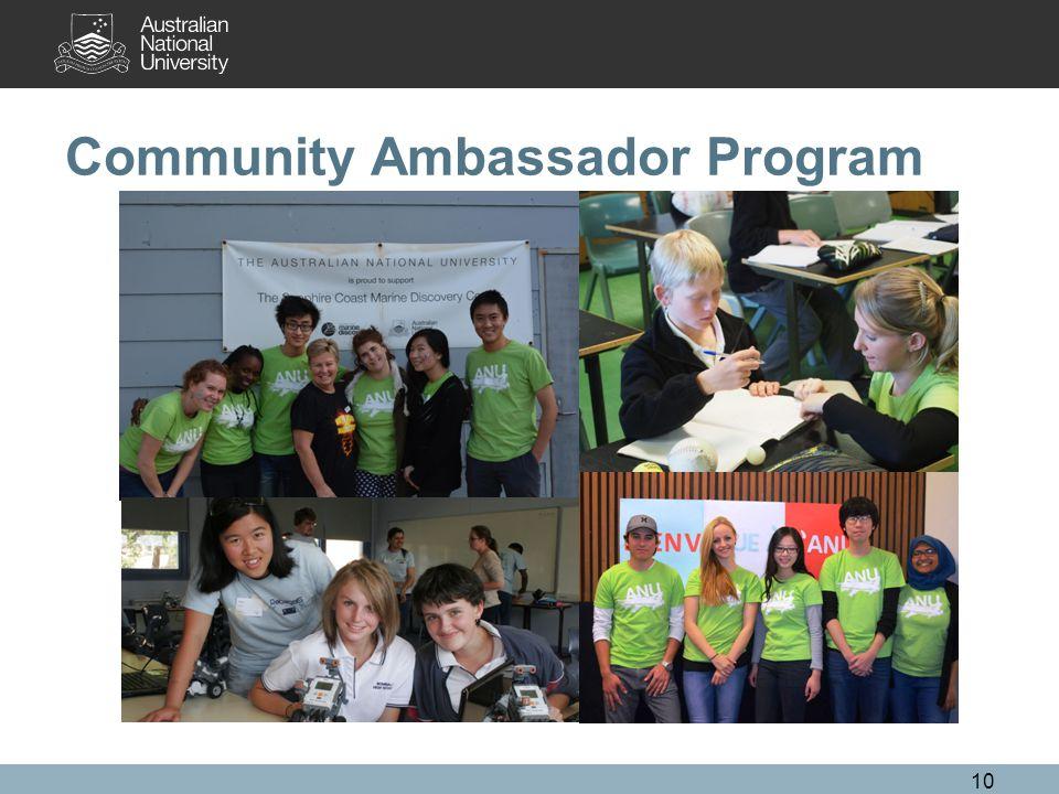 10 Community Ambassador Program