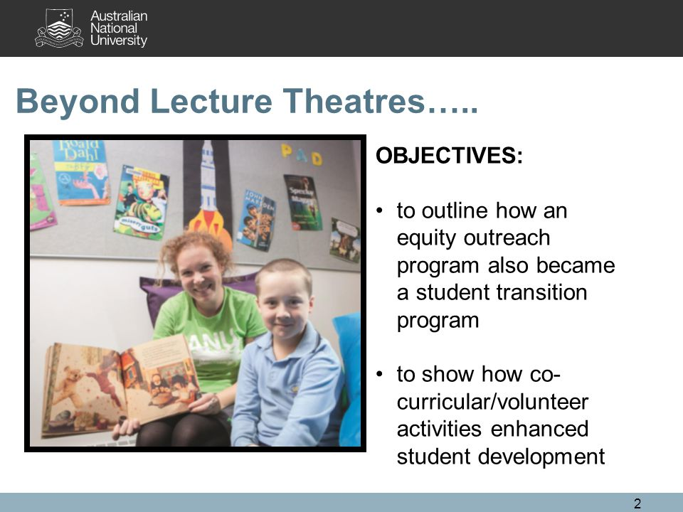 Beyond Lecture Theatres…..