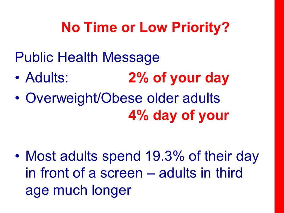 No Time or Low Priority.