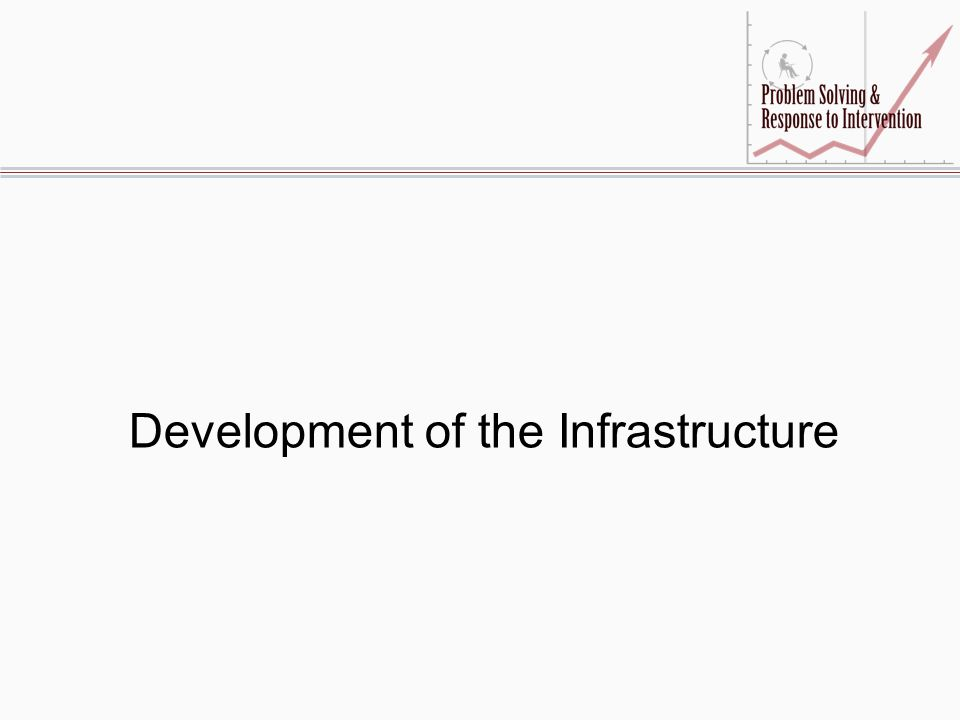 Development of the Infrastructure