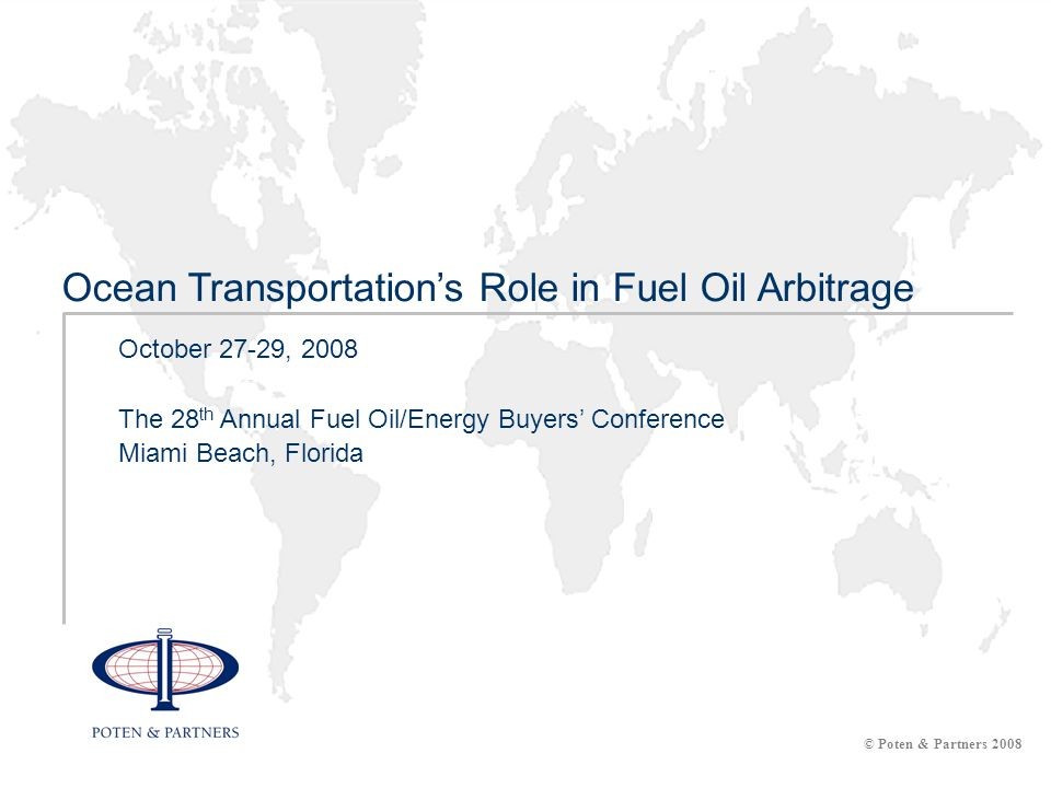 2 Overview Fuel oil moved on the spot market by vessel class Top routes for fuel oil spot shipments Volatility of freight rates Regional supply and demand – opportunity for arbitrage