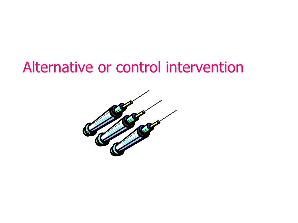 Alternative or control intervention